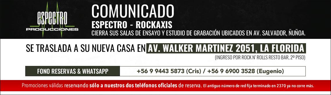 Comunicado Espectro Rockaxis