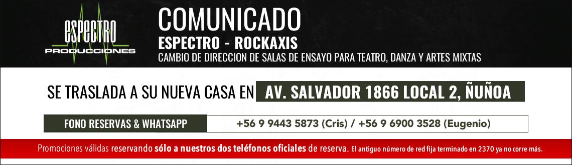 Comunicado Espectro Rockaxis 2